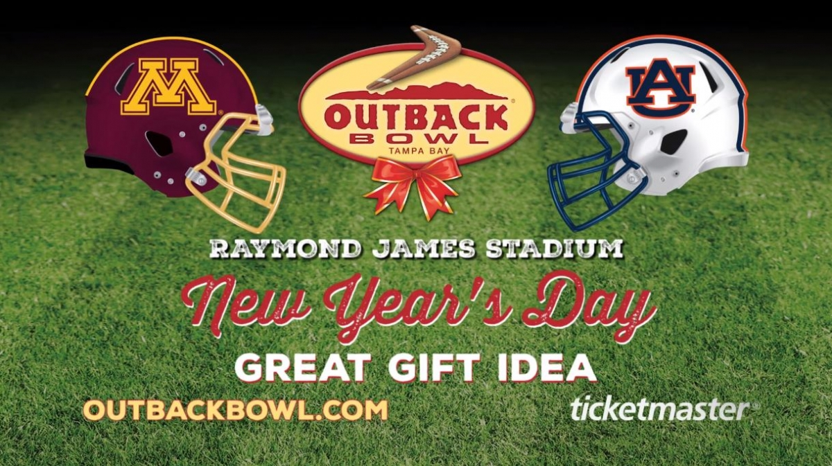 Outback Bowl 2020 between the Minnesota Golden Gophers and the Auburn Tigers